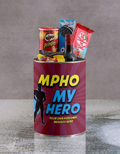 fathers-day Personalised Super My Hero Bro Bucket