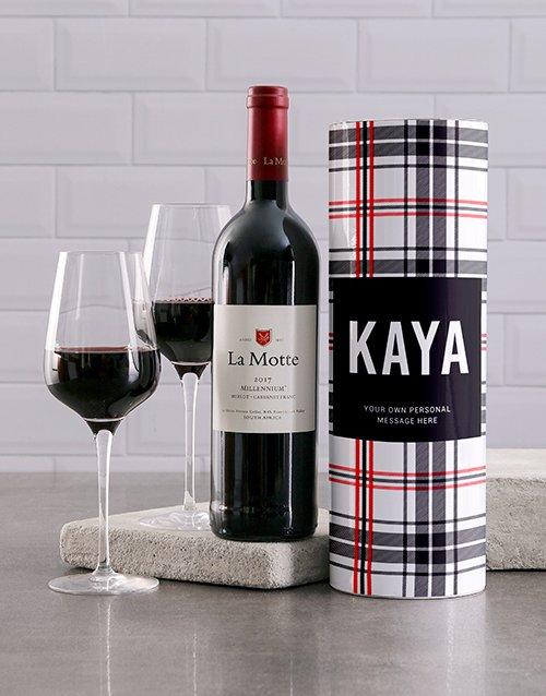 fathers-day Personalised Tartan Wine Tube