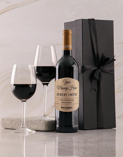 fathers-day Personalised Black Backsberg Giftbox