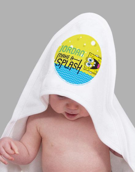 baby Personalised Make A Splash Hooded Towel