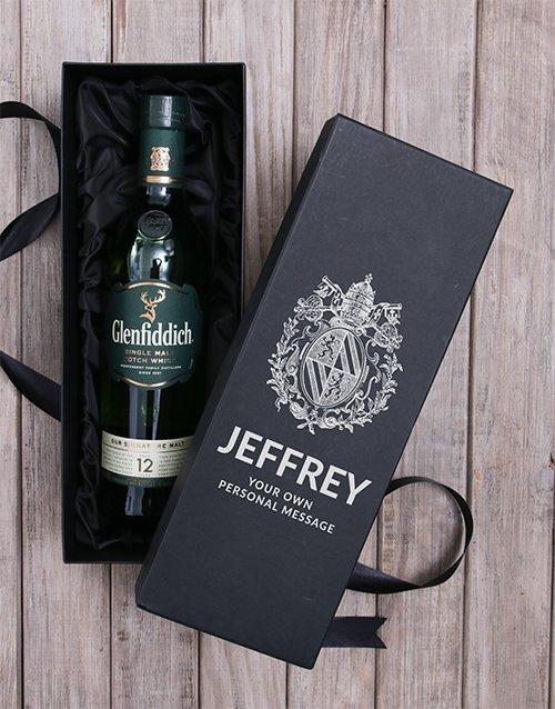 fathers-day Personalised Glenfiddich Wine Box