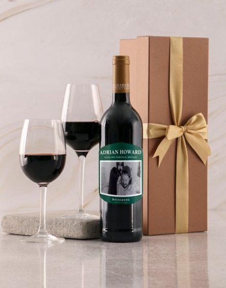 fathers-day Personalised Emerald Label Backsberg Wine