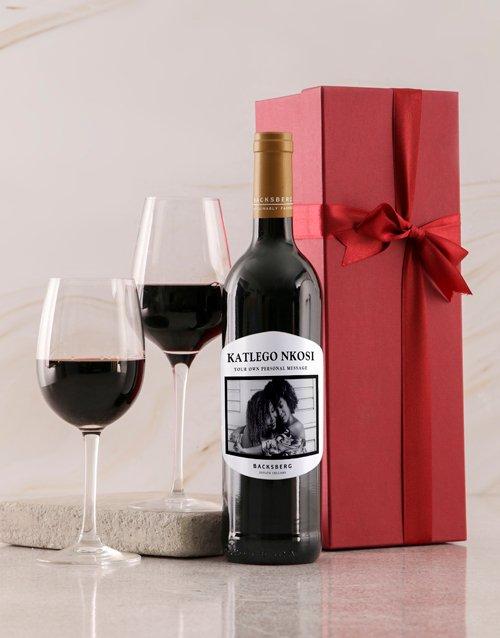 fathers-day Personalised White Label Backsberg Wine