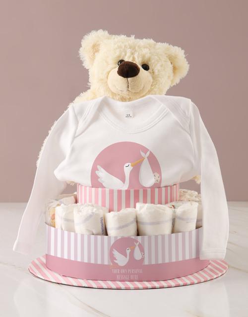 baby Personalised Baby Girl Clothing Nappy Cake