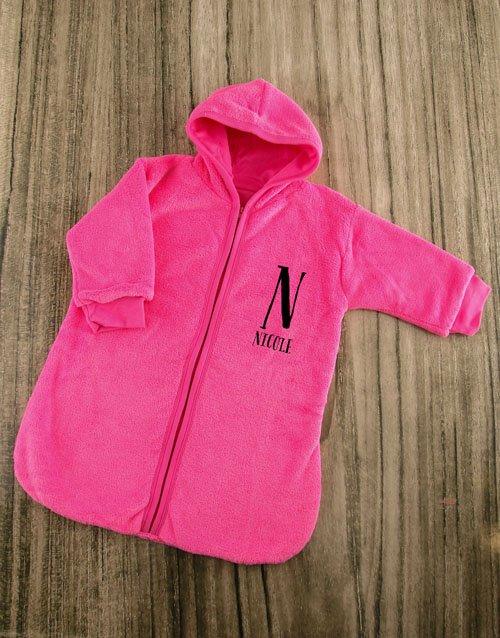 baby Personalised Baby Sleeping Hamper in Pink