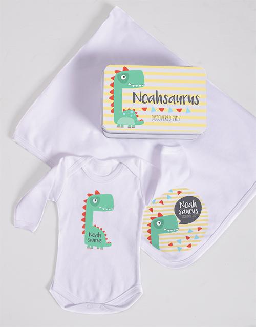 baby Personalised Saurus Spoils Gift