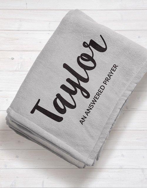baby Personalised Name and Message Baby Fleece Blanket