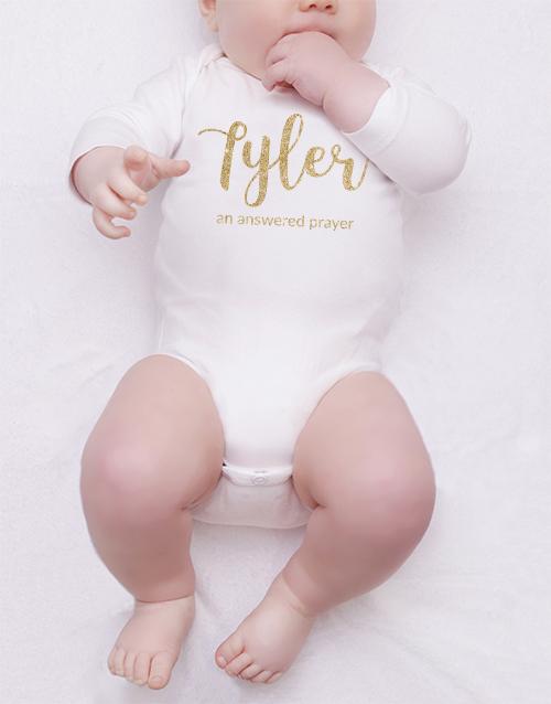 baby Personalised Glitter Name Onesie