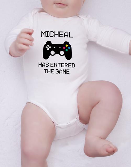 baby Personalised Player Onesie