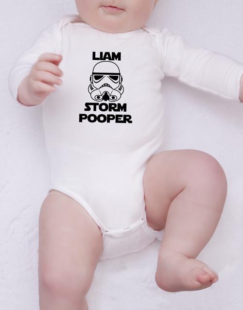baby Personalised Storm Pooper Onesie
