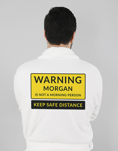 fathers-day Personalised Warning Gown