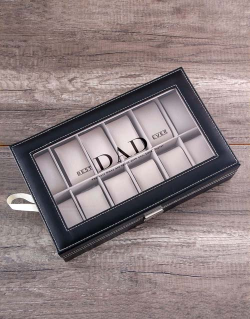 fathers-day Personalised Dad Watch Box