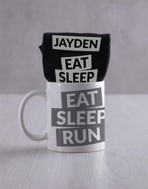 fathers-day Personalised Running Socks And Mug