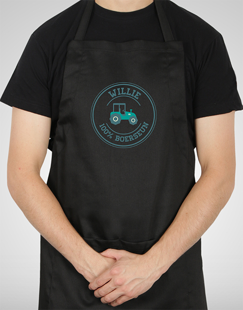 fathers-day Personalised Boerseun Apron