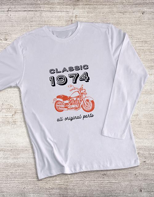 fathers-day Personalised Classic Year Bike LongSleeve T Shirt