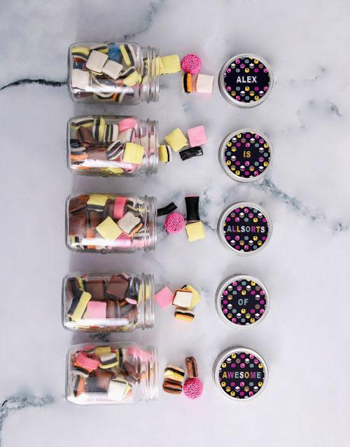 fathers-day Personalised Mini Liquorice Jars