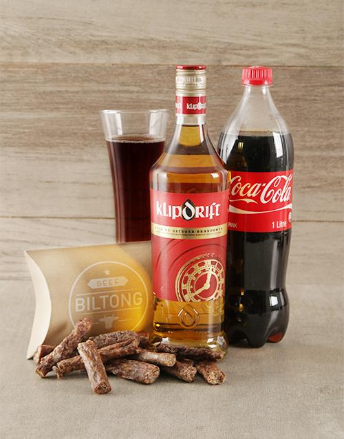 fathers-day Klipdrift Coke and Biltong Hamper