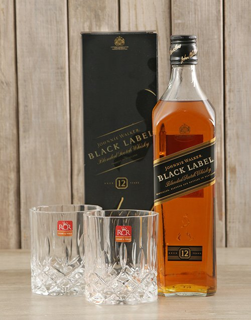 fathers-day Black Label & Crystal Glasses