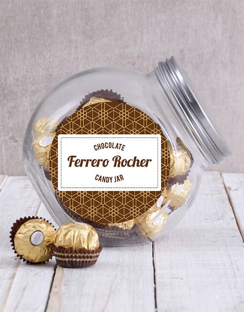 fathers-day Candy Jar of Ferrero Rocher Truffles