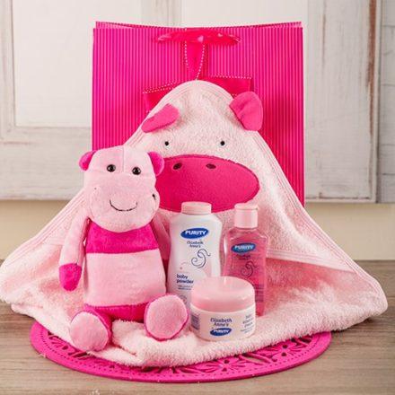 baby Baby Girl Hippo Bath Time Set