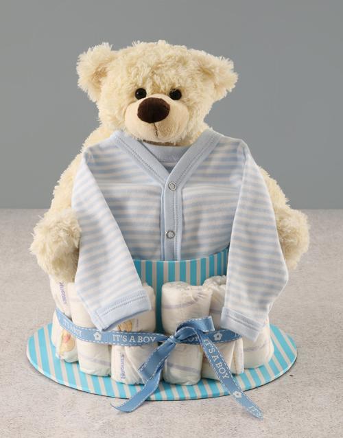 baby Its a Boy Nappy Cake