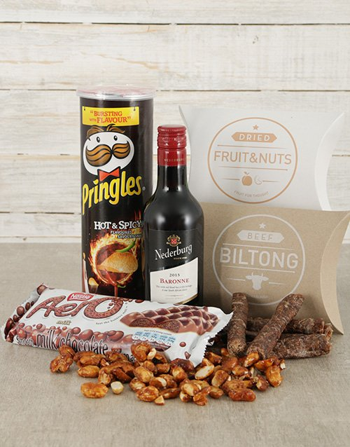 fathers-day Nederburg and Nibbles Hamper