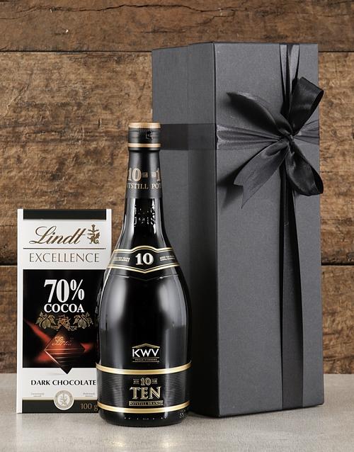 fathers-day Black Box of KWV Brandy