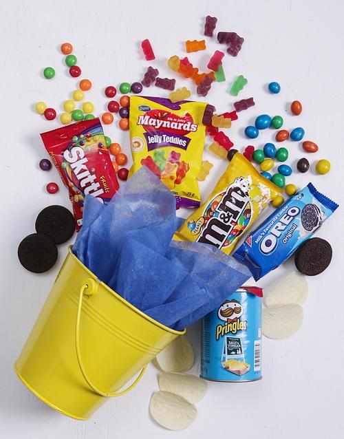 fathers-day Yellow Bucket of Sweet Treats