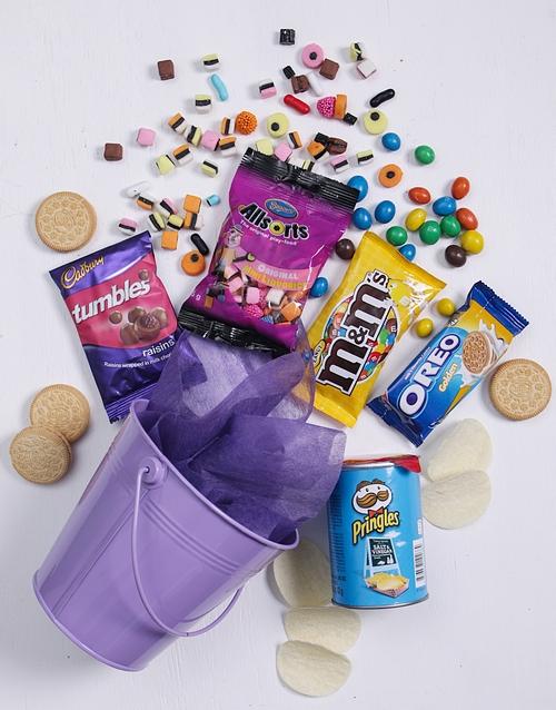 fathers-day Purple Bucket of Sweet Treats