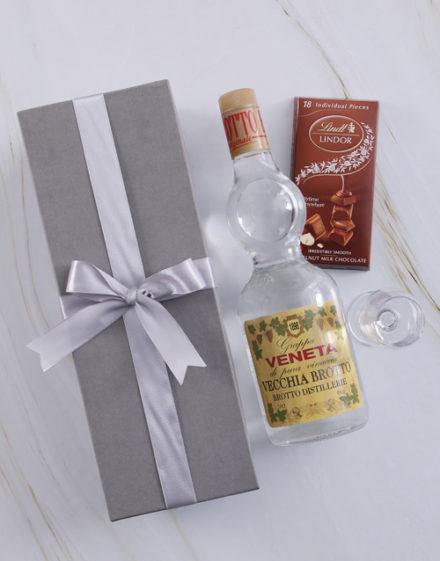 fathers-day Silver Box of Grappa Veneta