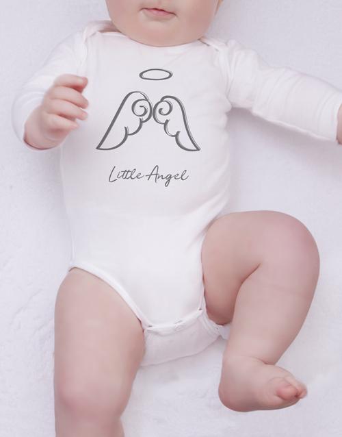 baby Angel Illustration Onesie