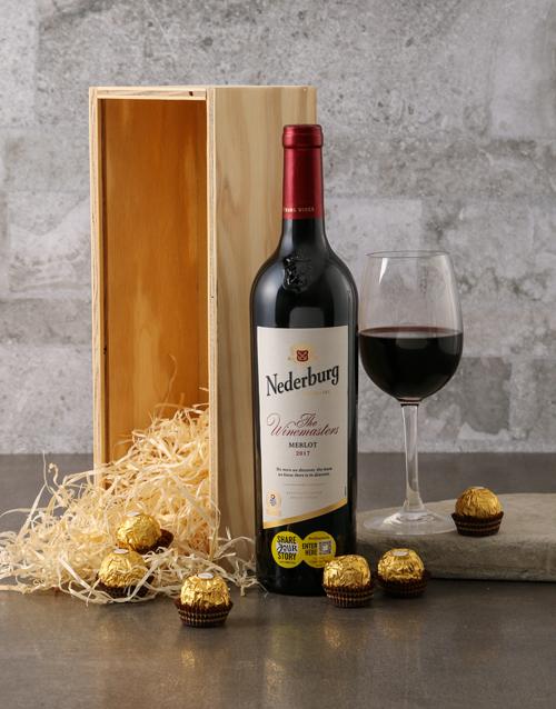 fathers-day Nederberg Winemasters and Ferrero Rocher Gift Box
