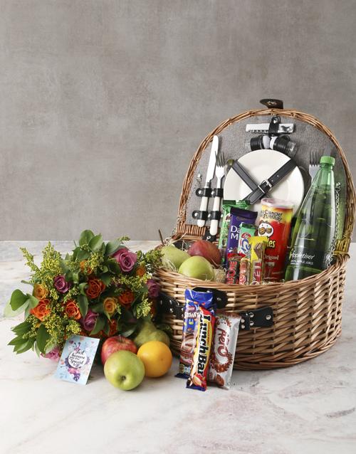 birthday Fruity Surprise Picnic Basket