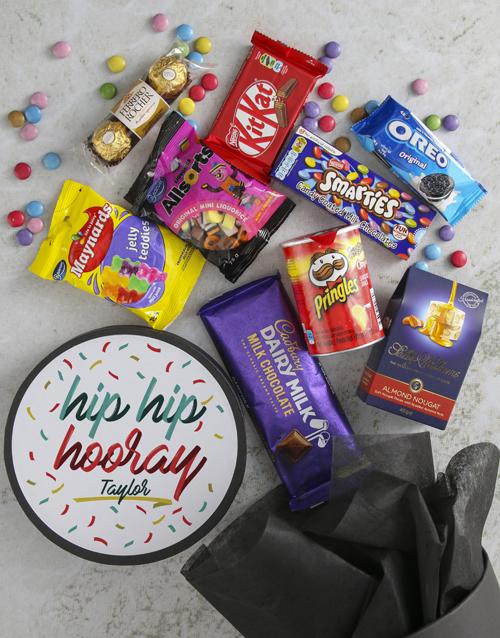 birthday Personalised Hip Hooray Colour Hat Box