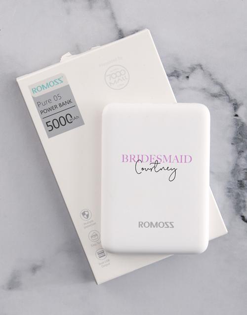 birthday Personalised Bridesmaid Romoss Power Bank