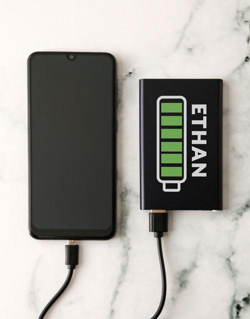 birthday Personalised Battery Black Powerbank