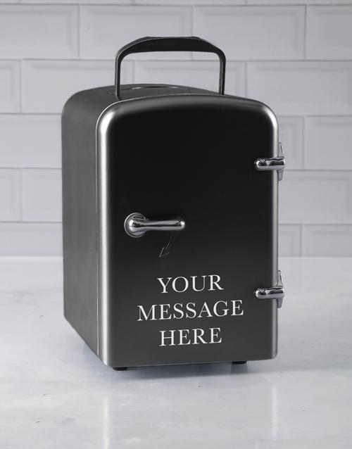 birthday Personalised Message Black Desk Fridge
