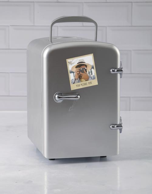 birthday Personalised Polaroid Silver Desk Fridge