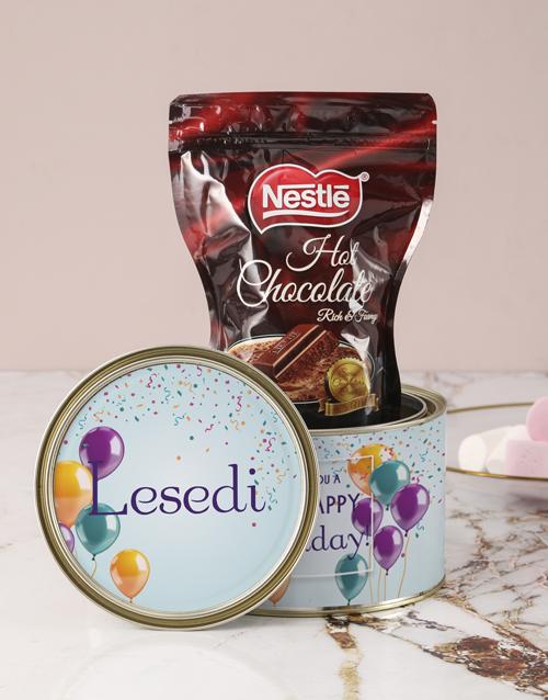 birthday Personalised Birthday Wishes Hot Choc Tin