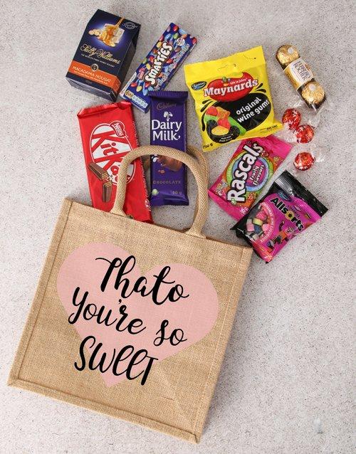 birthday Personalised Treat Hessian Bag