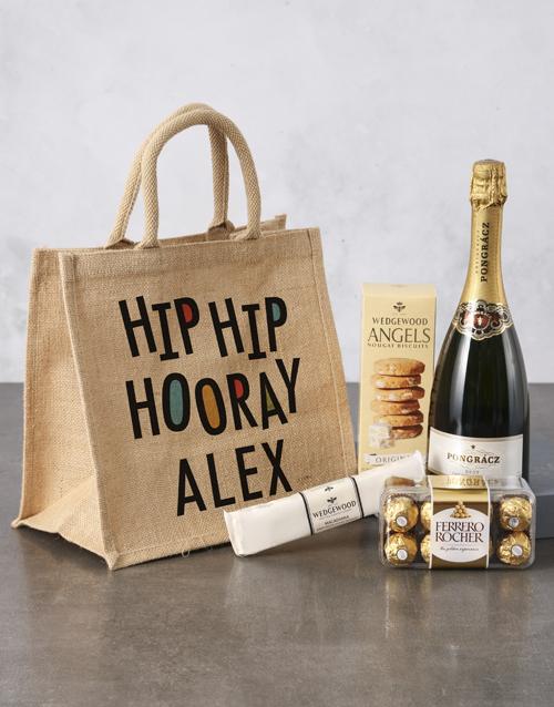 birthday Personalised Birthday Hessian Bag