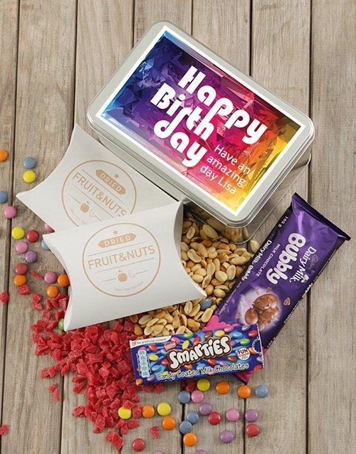birthday Personalised Birthday Colour Snack Tin