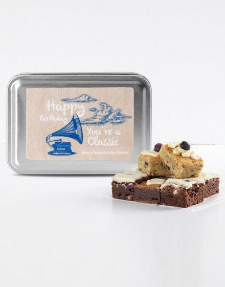birthday Personalised Birthday Classic Gourmet Brownie Tin