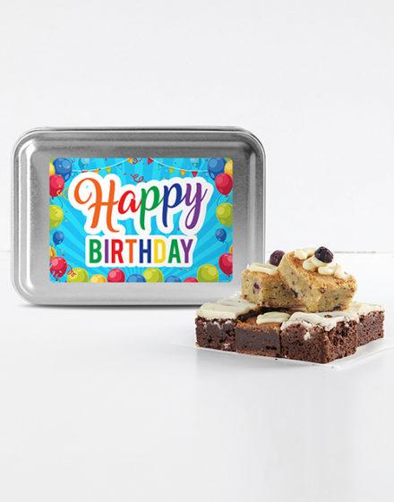 birthday Happy Birthday Brownie Tin