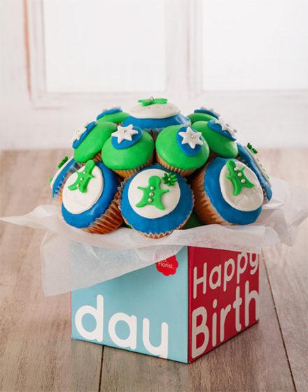 birthday Happy Birthday Cupcake Bouquet for Him