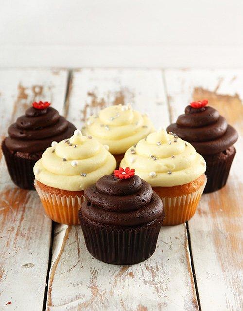 birthday Chocolate and Vanilla Cupcake Combo