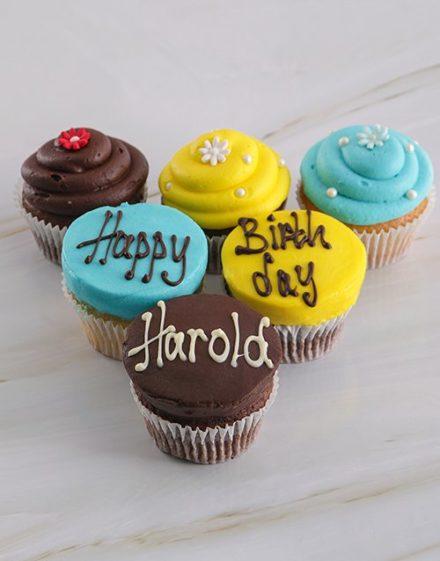 birthday Personalised Birthday Cupcakes for Him