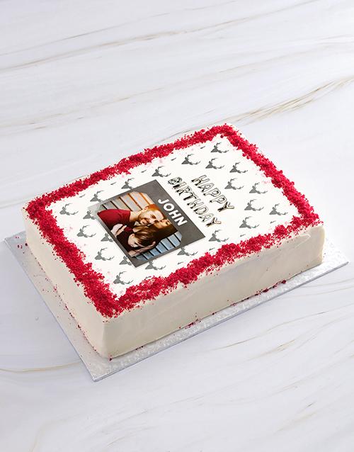birthday Birthday Deer Photo Cake