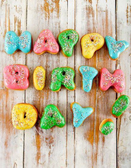 birthday Happy Birthday Mini Doughnuts