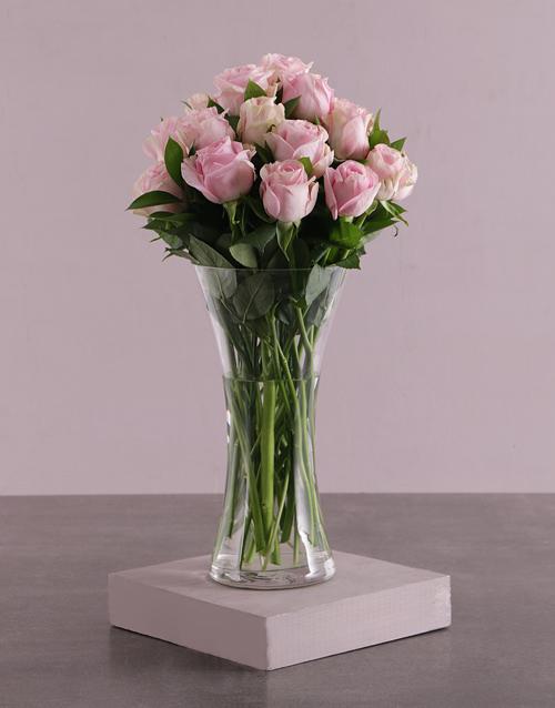 roses Pretty Pink Rose Arrangement